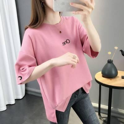 2019时装短袖女批发厂家 几元半袖批发货源 韩版小衫