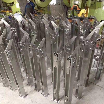 金聚进 304不锈钢工程立柱楼梯扶手阳台玻璃栏杆大刀片商场家用扶手立柱