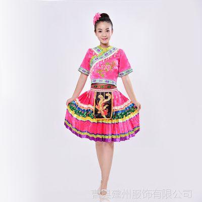 女装舞台演出服云南服饰湘西瑶族衣服女成人苗族服装少数民族舞蹈