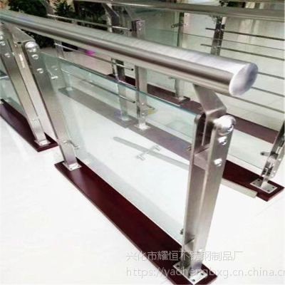 耀恒 双夹不锈钢栏杆护栏 双夹不锈钢楼梯立柱 厂家直销