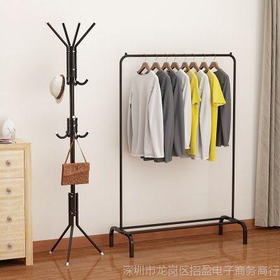 晾衣架折叠室内式厚阳台落地单杆单杠卧室家用凉衣架晒架