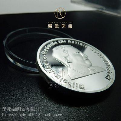 纯银纪念章厂家定制 头像外贸币订做