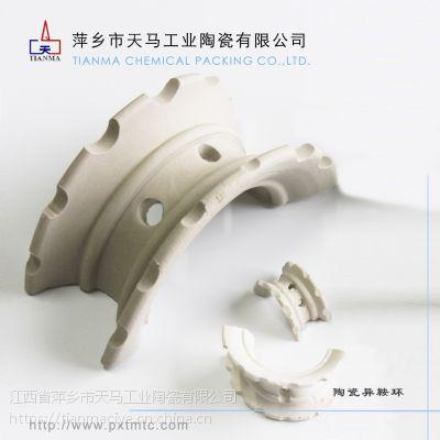 天马陶瓷异鞍环填料 耐酸耐高温异鞍环陶瓷