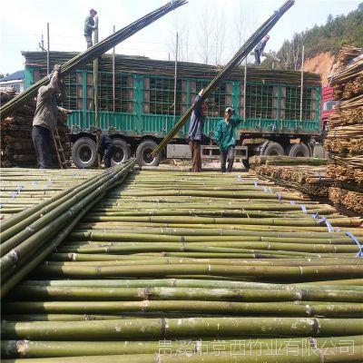 厂家直销陕西矮化苹果项目专用4米小竹竿 江西京西竹业发货 量大从优