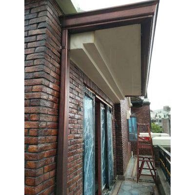 外墙别墅水管古铜色彩铝落水管材质抗锈