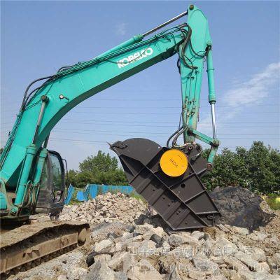 江苏南京卡特挖机混凝土破碎斗水泥块粉碎铲斗石子破碎机