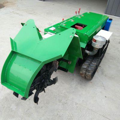 随机配备五种工具的自走式多功能施肥机 可混合搭配使用的旋耕开沟机