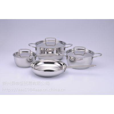 三A厨具不锈钢锅批发 厂家定制 三层底均匀受热通用灶具