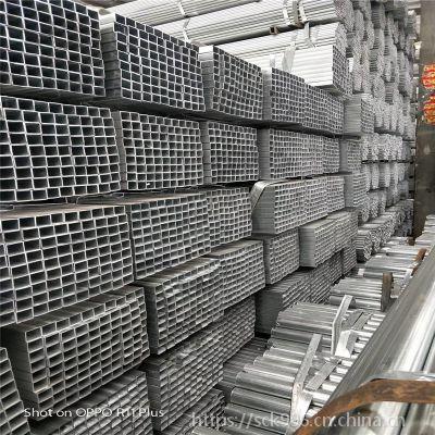 现货供应 镀锌方管 黑方管 镀锌方矩管 方钢 可过磅销售