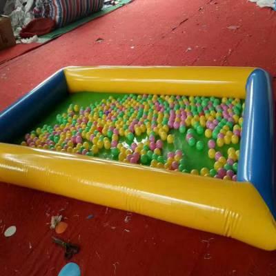 重庆新颖儿童充气沙池海洋球池公园摆摊神器,心悦沙滩池气垫厂家热卖