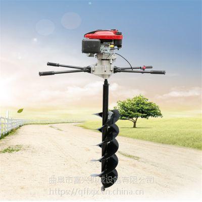 富兴种树专业打坑机 围栏立设钻洞机 大棚立柱打眼机价格