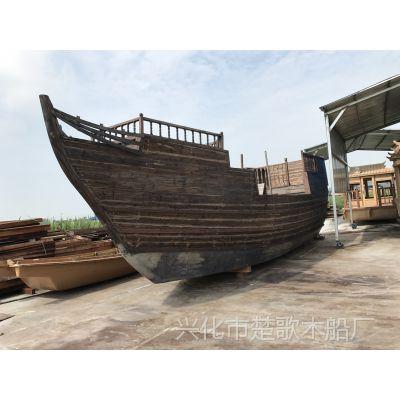 河南木质景观海盗船公司厂家可以定做大型景观船/海盗木船/户外装饰船
