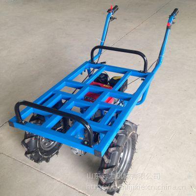 草料搬运平板小推车 烧汽油的翻斗车 奔力 BL-SLD-1