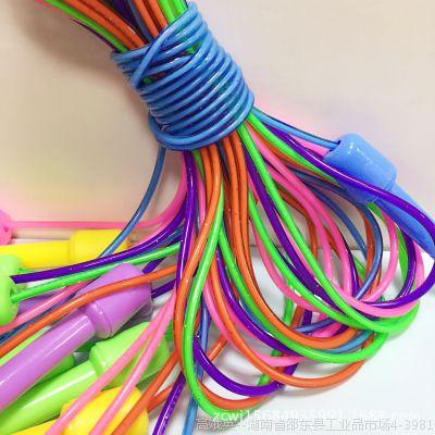 批发  中小学生专用达标跳绳  塑料彩色加粗训练体育用品