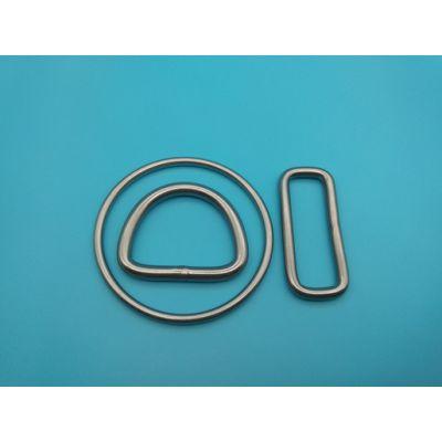 景旺无缝焊接方扣 圆环40mm无镍环保箱包挂扣 可出口