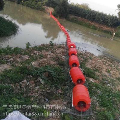 澧水河漂浮物拦污漂排垃圾拦截装置