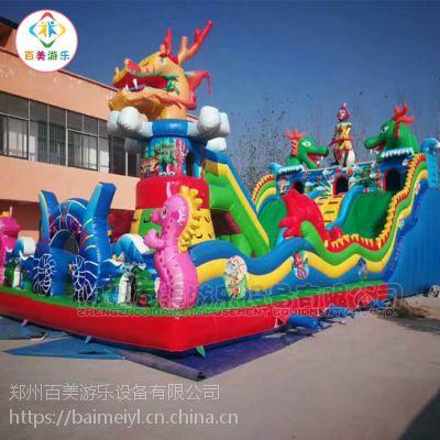 湖北咸宁儿童充气城堡,大圣归来气垫蹦蹦床新造型更加受关注