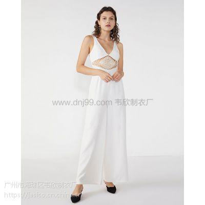 外贸韦欣服装厂欧美时尚新款蕾丝镂空连体裤