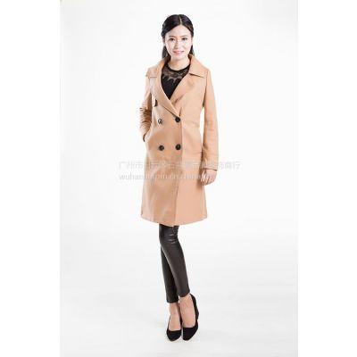 蕾雪儿汉派品牌大码高端16年新款羊毛羊绒大衣尾货分份批发