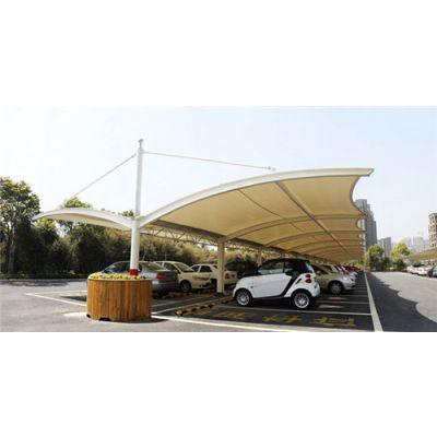 池州膜结构车棚-锦芊装饰工程-学校膜结构车棚批发