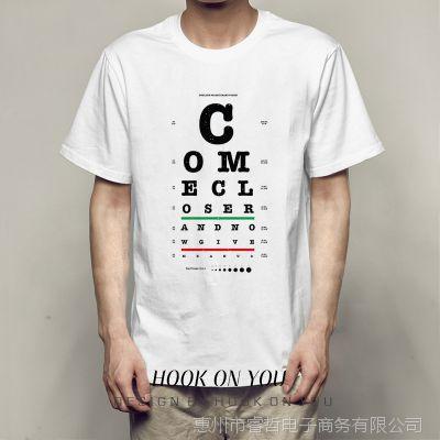 Come Closer 靠近点字母i印花休闲Chic圆领夏宽松男女百搭T恤衫款