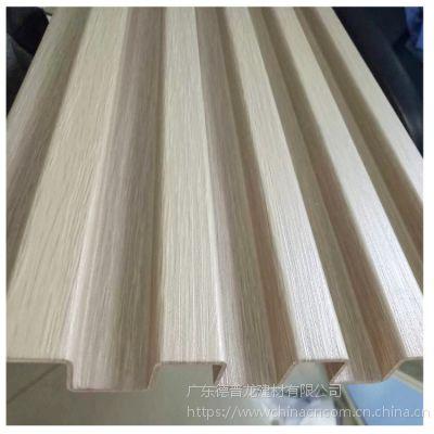 深灰色凹凸折叠铝长城板 生态木纹长城板加工