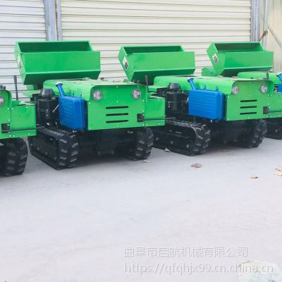 多用履带式施肥锄草盖土一体机 新疆葡萄园施肥机 启航不伤根开沟机