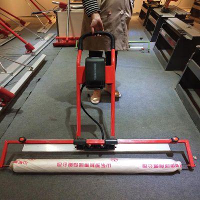 第三代可调速功能电动铺膜机混凝土路面振平去脚印盖地膜机
