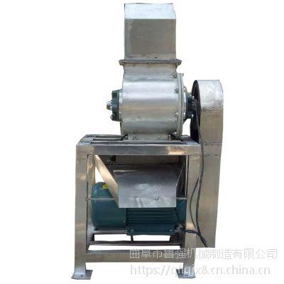鲁强机械生产生姜榨汁机 1吨带破碎水果榨汁机 渣汁分离