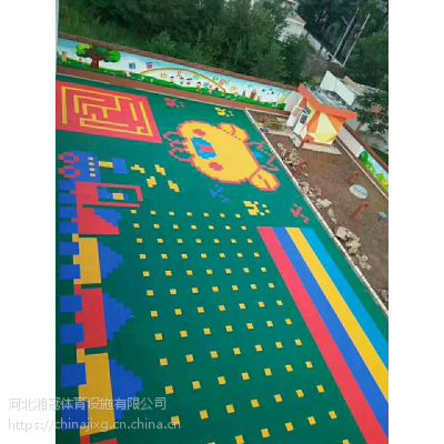 甘肃、陕西、湖北、山东、多色双层拼装地板双米厂家湘冠安装施工