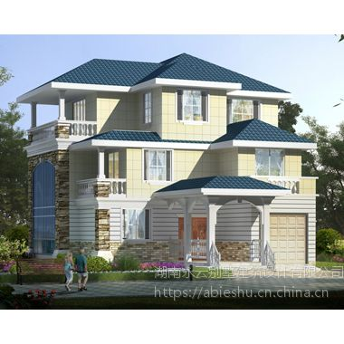 AT1821休闲私人三层复式带车库别墅设计施工图纸12.7mX18m