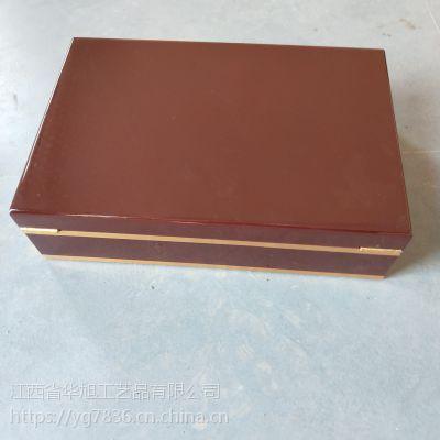 亮光UV烤漆天然木材木盒包装