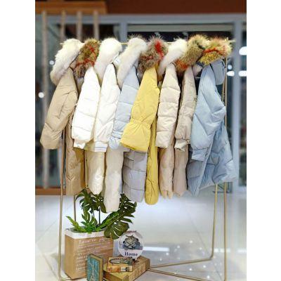 羽琪大毛领长款羽绒服品牌折扣女装19新品批发销售