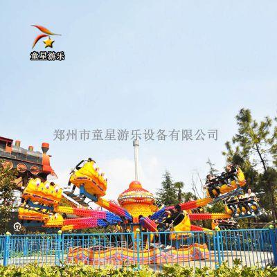 游乐园大型游乐设备弹跳机风格迥异