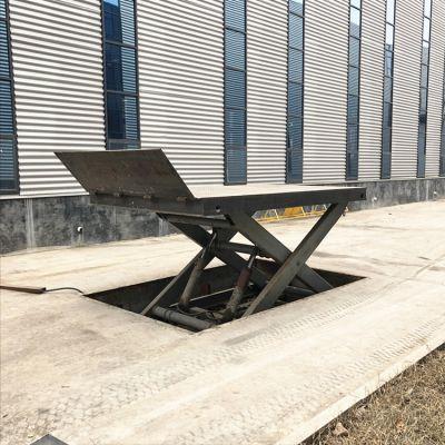 工厂定做固定剪叉式升降平台 简易式电动升降简易货梯 1吨举升机