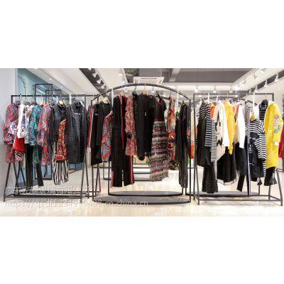 IAM27杭州服装尾货批发市场在哪里批发折扣 杭州尾货库存女装批发棕色大码女装