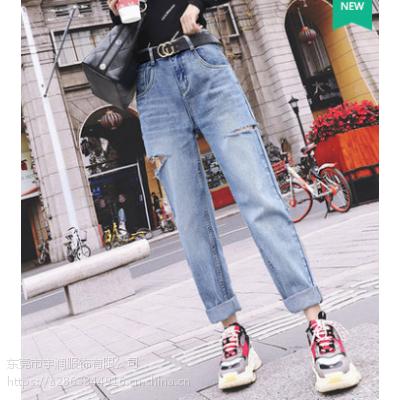 5元时尚便宜牛仔裤低价清货女装裤子广州九分牛仔裤清货尾货批发