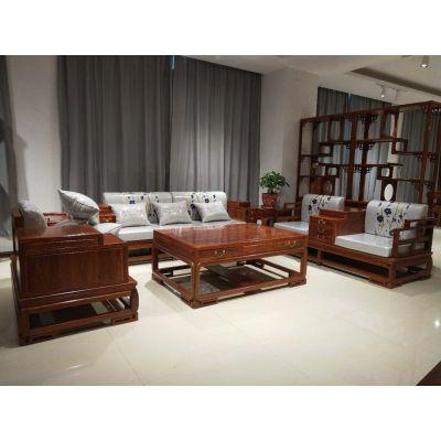 名琢世家现代家具实木沙发江南沙发 厂家直销