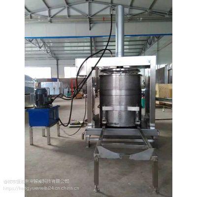 恒越未来HYWL-400L单桶红萝卜压榨机,果蔬压榨脱水机