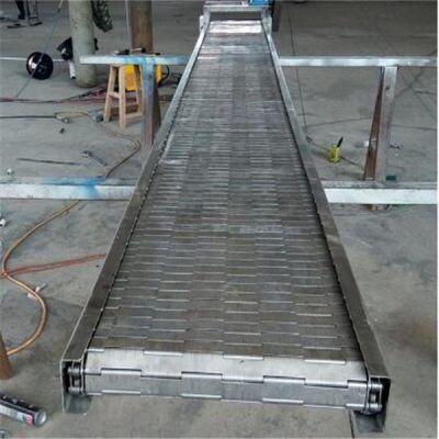 纯净水连续式链板输送机耐用 耐磨耐用链板输送机报价品牌厂家
