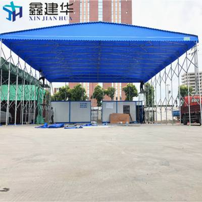 昆山玉山镇工厂储蓄仓库雨棚定做 大型推拉蓬雨棚布的质量不是不错