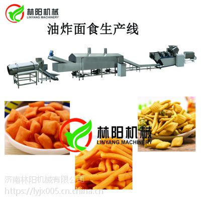咪咪条咪咪片油炸面食设备六道辊YMJ-III压面机设备生产线