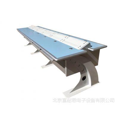 豪华彩虹腿工作台操控台调度台嵌入式标准机架操作台豪华工作桌