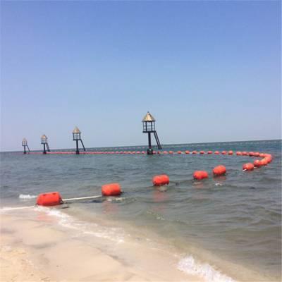 颜色醒目水库警示浮标 水源地拦船浮标围栏 柏泰科技制造
