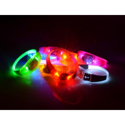 发光控硅胶手环 LED发光手环 遥控发光产品定制厂家