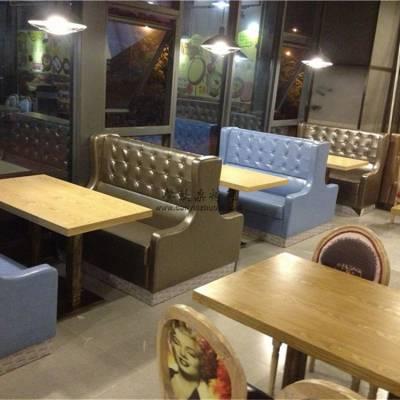 成都高级餐馆家具定做,扶手软包卡座沙发组合效果