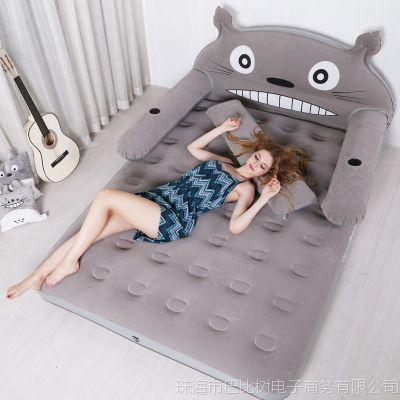 卡通充气床龙猫榻榻米懒人床充气地铺地垫家用卧室单双人充气床垫
