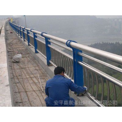 不锈钢桥梁景观护栏生产厂家 桥梁防撞护栏价格