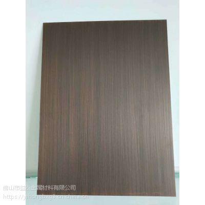 益泓供应304不锈钢发黑手工拉丝青古铜 做旧黄古铜板 红铜不锈钢自由纹板