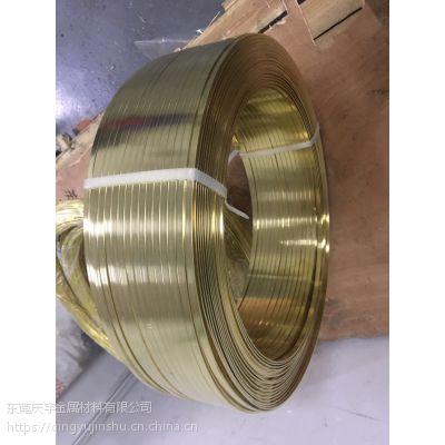 黄铜扁线 插头用美标欧标黄铜扁线、1.4*6.25mm德标黄铜扁线